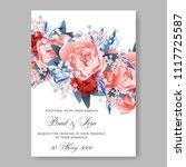 wedding invitation vector...   Shutterstock .eps vector #1117725587