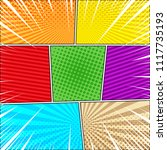 comic book explosive background ...   Shutterstock .eps vector #1117735193