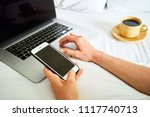 close up hand of female laying...   Shutterstock . vector #1117740713