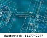 blueprint  sketch. vector... | Shutterstock .eps vector #1117742297