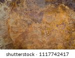 old rusted iron background. | Shutterstock . vector #1117742417
