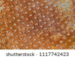 old rusted iron background. | Shutterstock . vector #1117742423