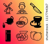 vector icon set  about food... | Shutterstock .eps vector #1117744367
