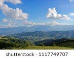 summer high view mountain... | Shutterstock . vector #1117749707