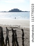 coast of saint malo and fort... | Shutterstock . vector #1117750223