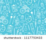medical seamless pattern. flat... | Shutterstock .eps vector #1117753433