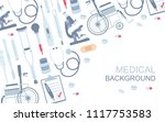 medical background. flat style. ... | Shutterstock .eps vector #1117753583