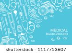 medical background. flat style. ... | Shutterstock .eps vector #1117753607