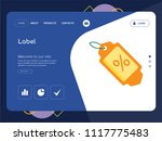 quality one page label website... | Shutterstock .eps vector #1117775483