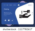 quality one page closing... | Shutterstock .eps vector #1117782617