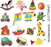 vector set of baby's toys. | Shutterstock .eps vector #111778967