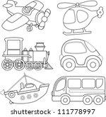 cartoon transport. coloring...