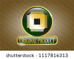 gold shiny badge with... | Shutterstock .eps vector #1117816313