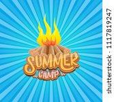 vector summer kids camp cartoon ... | Shutterstock .eps vector #1117819247