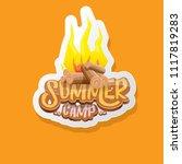vector summer kids camp cartoon ... | Shutterstock .eps vector #1117819283