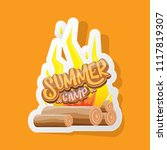vector summer kids camp cartoon ... | Shutterstock .eps vector #1117819307
