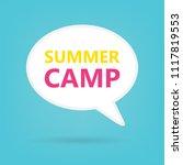 summer camp written on speech... | Shutterstock .eps vector #1117819553