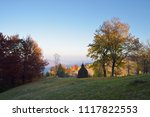 autumn rural landscape.... | Shutterstock . vector #1117822553
