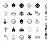 joy icon. collection of 25 joy... | Shutterstock .eps vector #1117823093