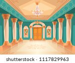 ballroom or palace reception... | Shutterstock .eps vector #1117829963