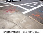 marks on the road to repair the ... | Shutterstock . vector #1117840163