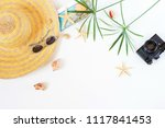 traveler accessories  tropical... | Shutterstock . vector #1117841453