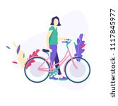 vector illustration with womman ...