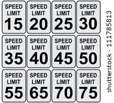 road speed limit signs from... | Shutterstock .eps vector #111785813