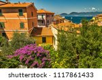 typical italian houses on... | Shutterstock . vector #1117861433