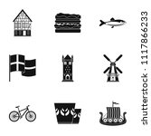 spaciousness icons set. simple... | Shutterstock .eps vector #1117866233