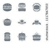 cheeseburger logo set. simple... | Shutterstock .eps vector #1117867853