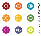 dial icons set. flat set of 9...   Shutterstock .eps vector #1117867943