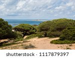 landscape of coast and... | Shutterstock . vector #1117879397