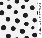 polka dots with rough edges... | Shutterstock .eps vector #1117892633