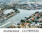 high angle view of river and... | Shutterstock . vector #1117899233