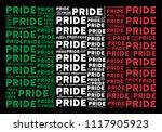 italian national flag flat... | Shutterstock .eps vector #1117905923