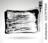 black brush stroke and texture. ... | Shutterstock .eps vector #1117979243