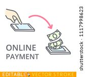 online payment concept....   Shutterstock .eps vector #1117998623