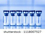 vaccine vial dose flu shot drug ... | Shutterstock . vector #1118007527
