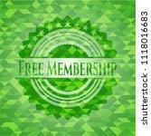 free membership green emblem.... | Shutterstock .eps vector #1118016683