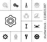 mechanical icon. collection of...   Shutterstock .eps vector #1118021387