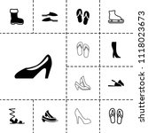 footwear icon. collection of 13 ... | Shutterstock .eps vector #1118023673
