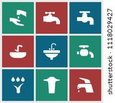 tap icon. collection of 9 tap...   Shutterstock .eps vector #1118029427