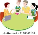 meeting of kindergarten teachers | Shutterstock .eps vector #1118041133
