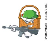 army picnic basket character... | Shutterstock .eps vector #1118077403
