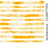 tropical pattern  palm leaves... | Shutterstock .eps vector #1118077553