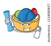 architect fruit tart character... | Shutterstock .eps vector #1118083817