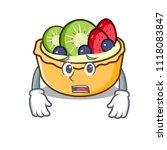 afraid fruit tart mascot cartoon | Shutterstock .eps vector #1118083847