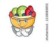 devil fruit tart mascot cartoon | Shutterstock .eps vector #1118083853