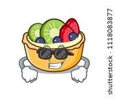super cool fruit tart character ... | Shutterstock .eps vector #1118083877